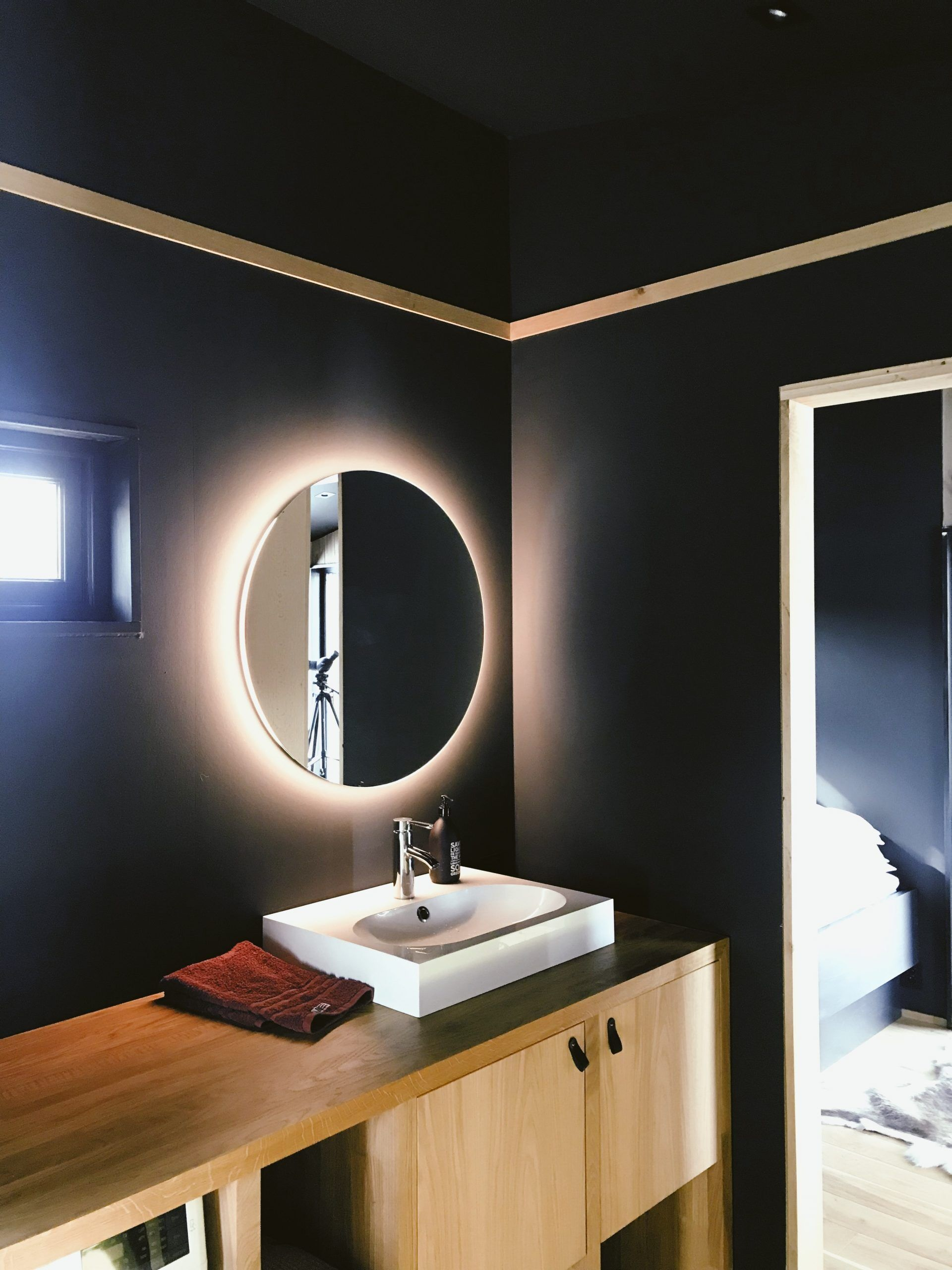 back lit mirror