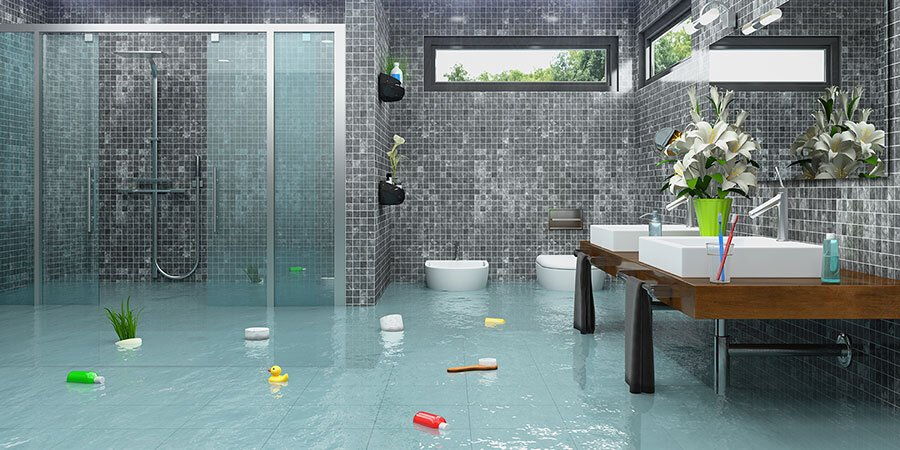 Bathroom Water Damage What To Do If Your Bathroom Floods